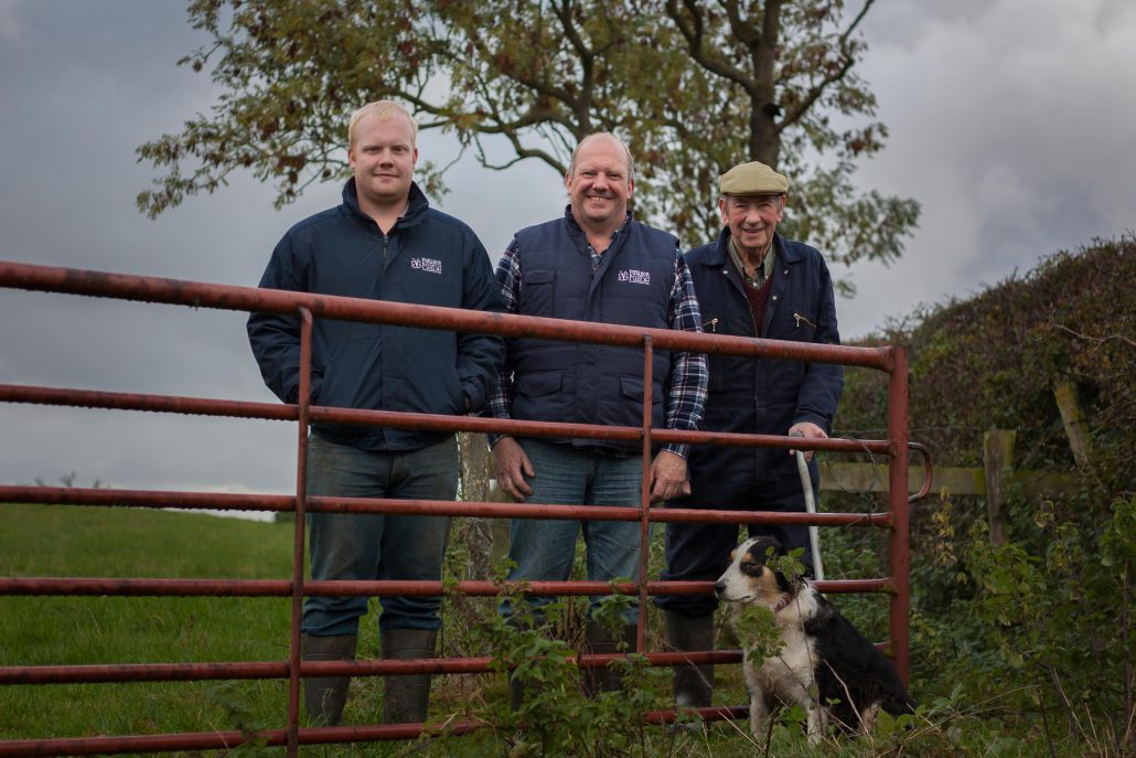 3 generations - Jim aged 90, Neil 53 and Joe 20 ( grandfather, father & son all working farmers)